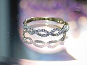 a designed diamond ring