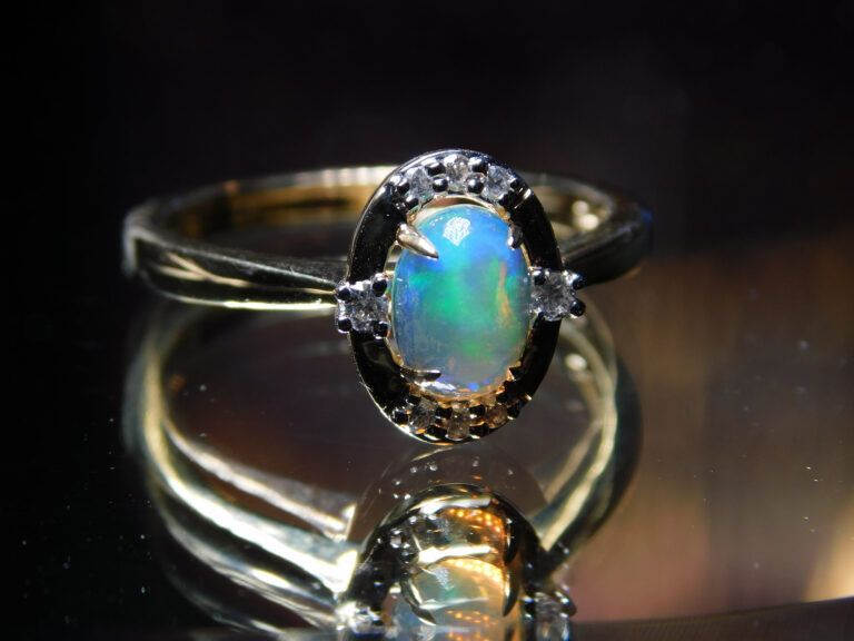 A gold ring with stone